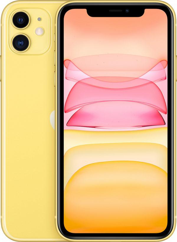 iPhone 11, 128 ГБ, желтый (новая комплектация)