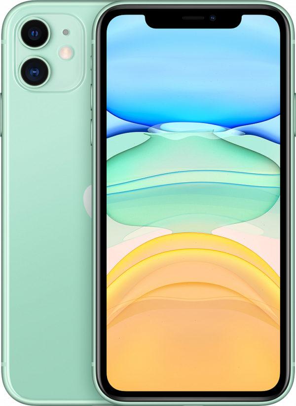 iPhone 11, 64 ГБ, зеленый (новая комплектация)