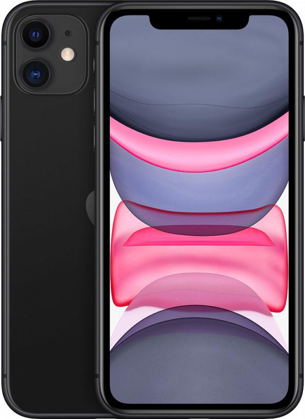 iPhone 11, 128 ГБ, черный (новая комплектация)