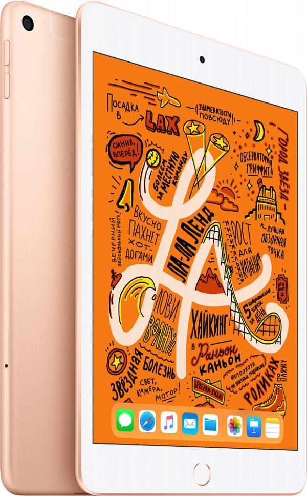 iPad mini 2019 Wi-Fi + Cellular 64 ГБ, золотой
