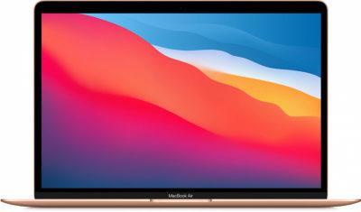 MacBook Air (M1, 2020) 8 ГБ, 256 ГБ SSD, золотой