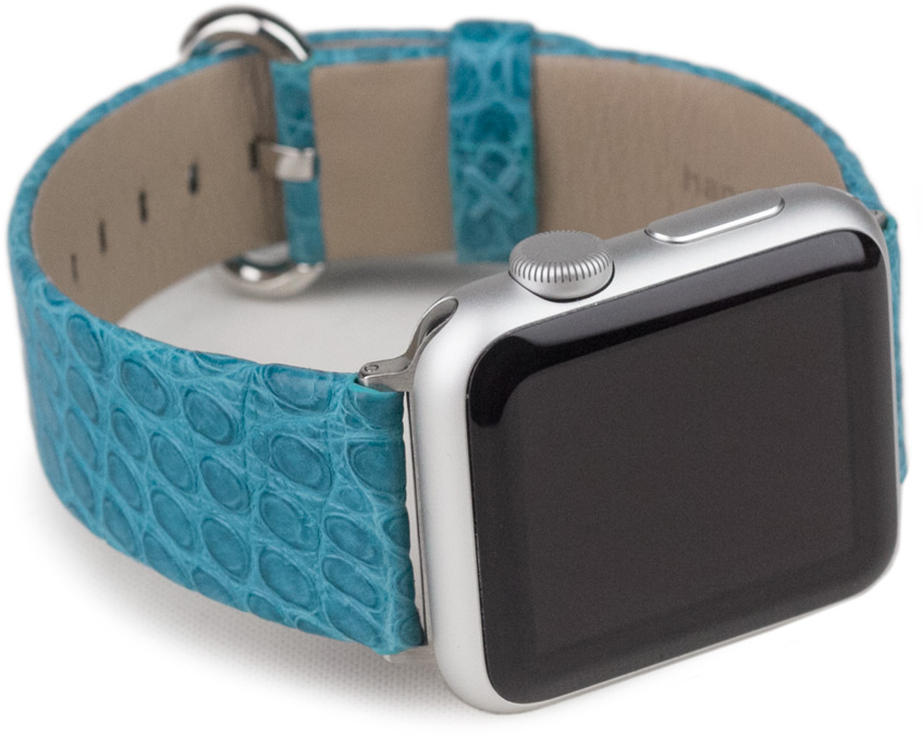 Ремешок для Apple Watch 42/44 мм ST Classic аллигатор, тиффани