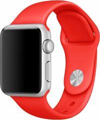 Ремешок для Apple Watch 42мм, силикон, красный