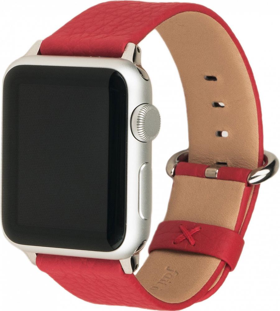Ремешок для Apple Watch 38/40 мм, теленок, красный
