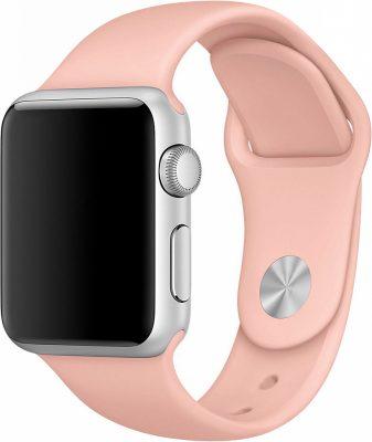 Ремешок для Apple Watch 38мм, силикон, розовый