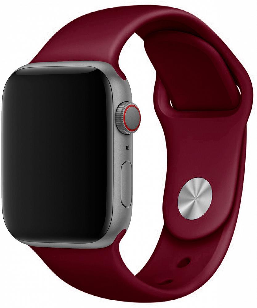 Набор силиконовых ремешков для Apple Watch 38 мм, бордовый