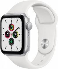 Watch SE, 40 мм, корпус из алюминия серебристого цвета, спортивный ремешок белого цвета