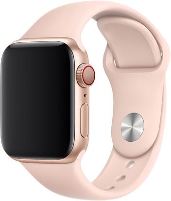 Ремешок для Apple Watch 42/44 мм, силикон, розовый песок