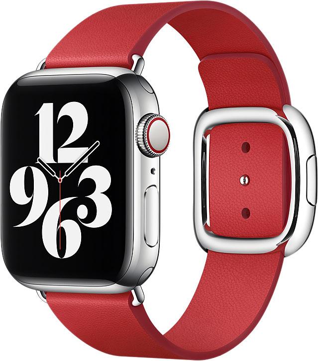 Ремешок цвет Watch 40 мм, с современной пряжкой, размер M, алый
