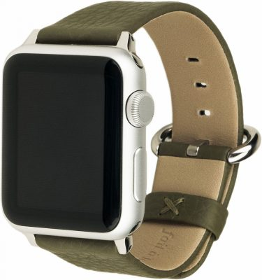Ремешок для Apple Watch 42/44 мм, теленок, зеленый