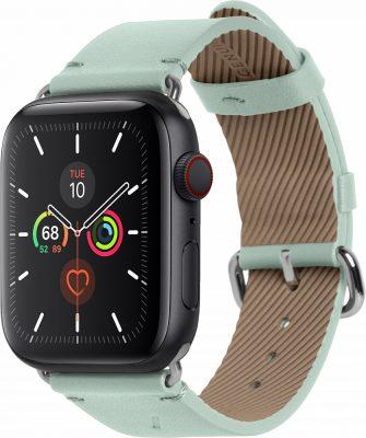 Ремешок Classic Strap для Apple Watch 42/44mm, кожа, светло-зеленый