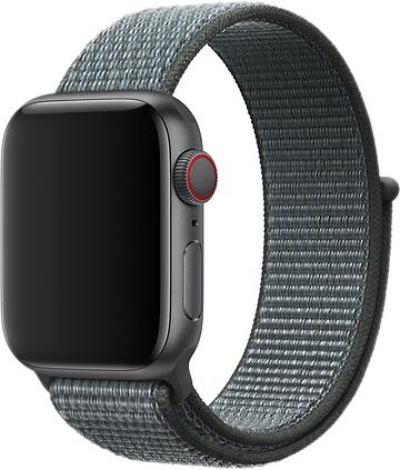 Браслет для Apple Watch 42/44 мм, нейлон, серый