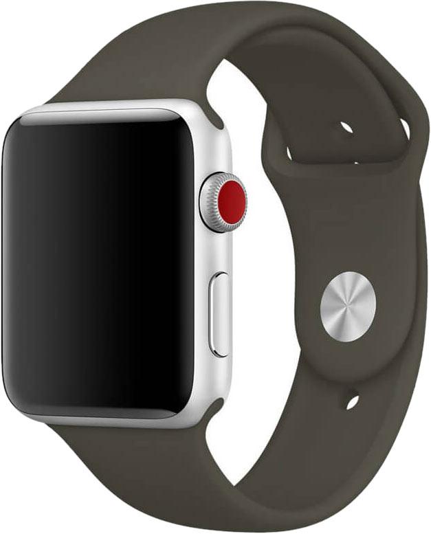 Ремешок для Apple Watch 38/40мм, силикон, оливковый