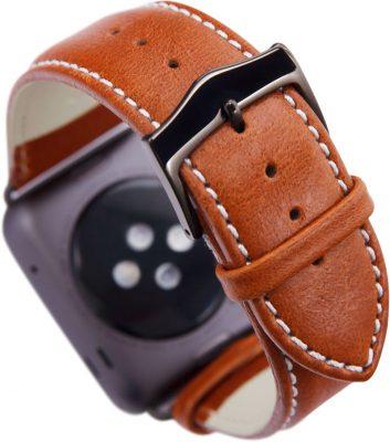 Ремешок Copenhagen для Apple Watch 42/44 мм, кожа, коричневый + серый космос