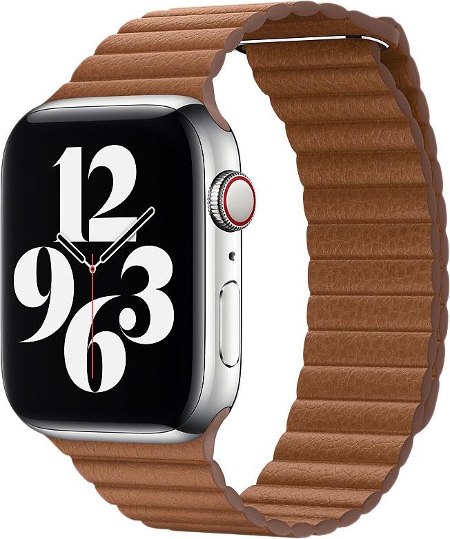 Кожаный ремешок Watch 44 мм, размер L, коричневый