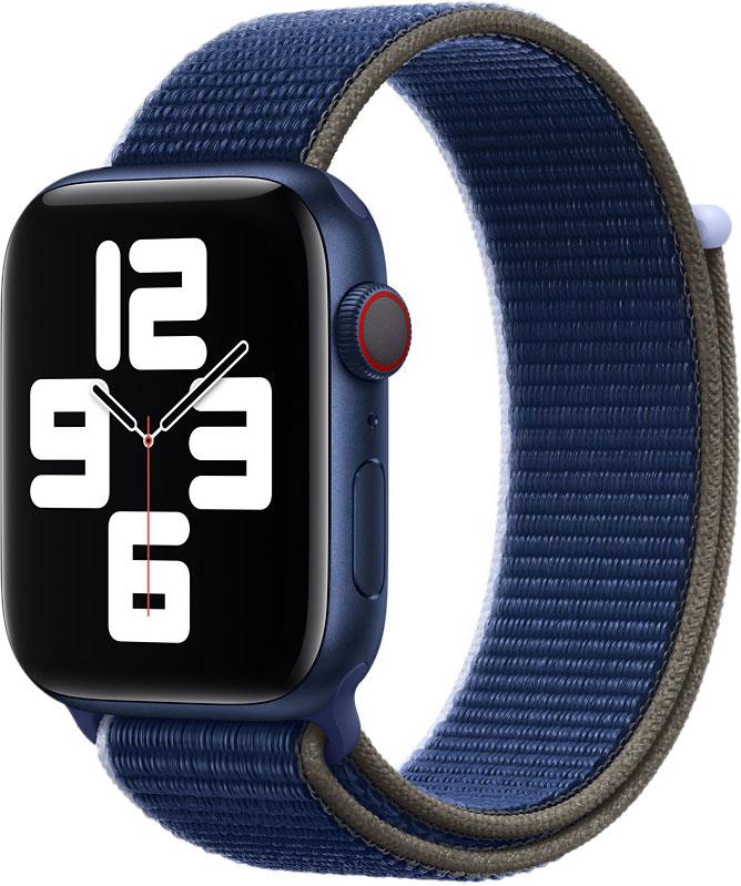 Спортивный браслет для Watch 44 мм, чёрно-синий