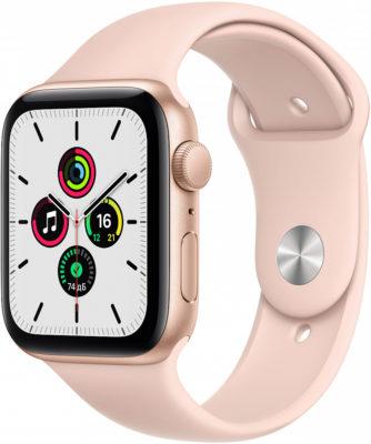 Watch SE, 44 мм, корпус из алюминия золотого цвета, спортивный ремешок цвета «розовый песок»