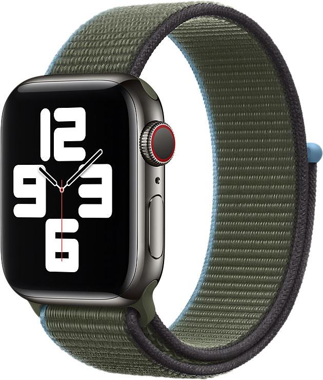 Спортивный браслет Watch 44 мм, «зелёные холмы»