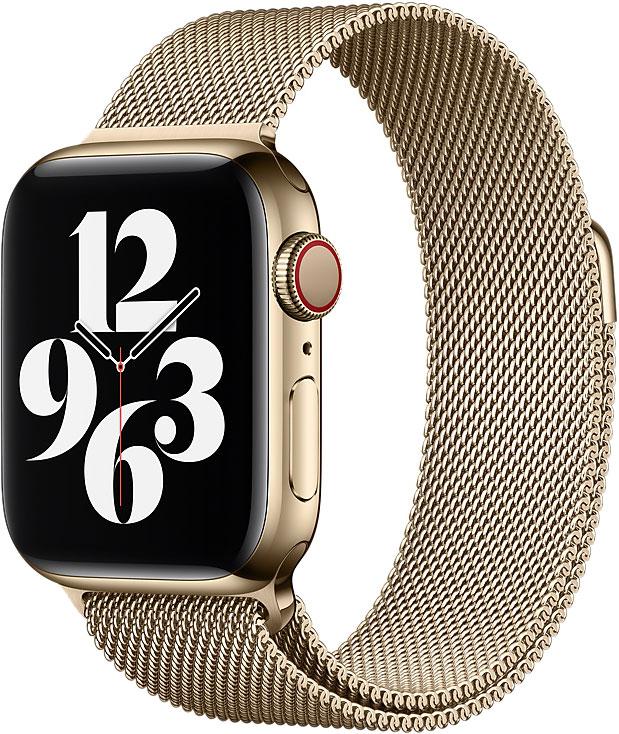 Миланский сетчатый браслет Watch 44 мм, золотой