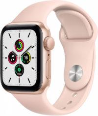 Watch SE, 40 мм, корпус из алюминия золотого цвета, спортивный ремешок цвета «розовый песок»