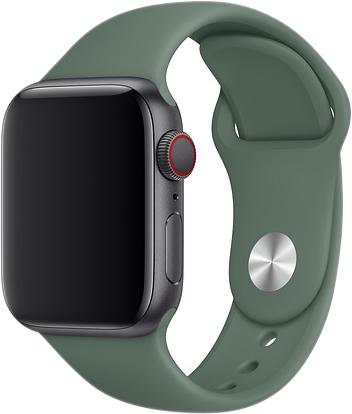 Ремешок для Apple Watch 42/44 мм, силикон, темно-зеленый
