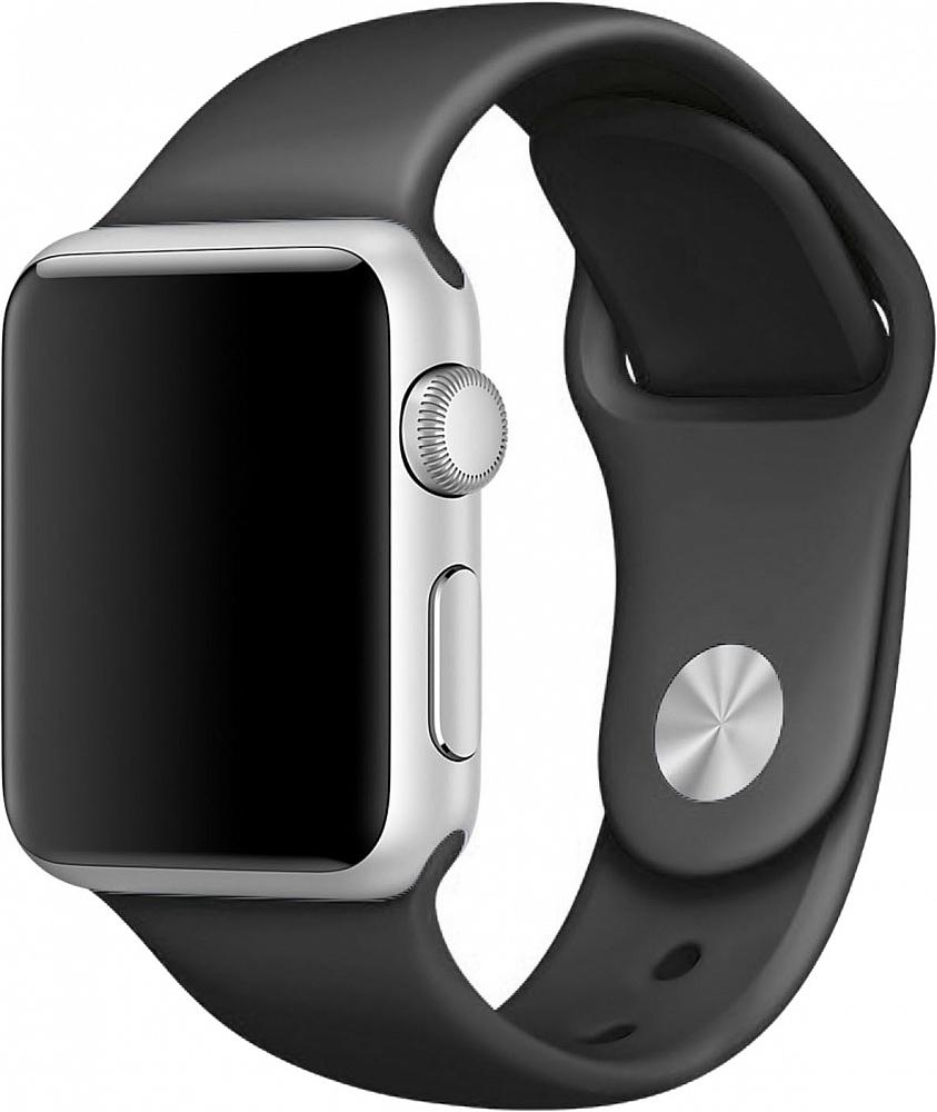 Ремешок для Apple Watch 38мм, силикон, черный