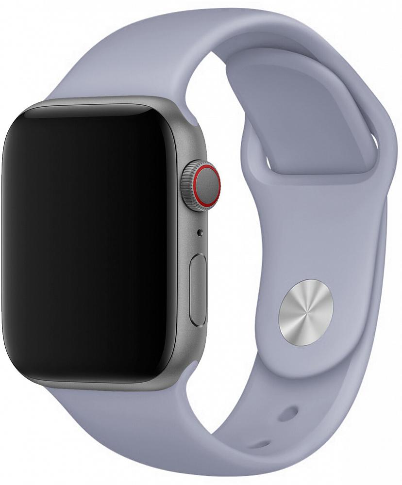 Набор силиконовых ремешков для Apple Watch 42/44 мм, лавандовый серый