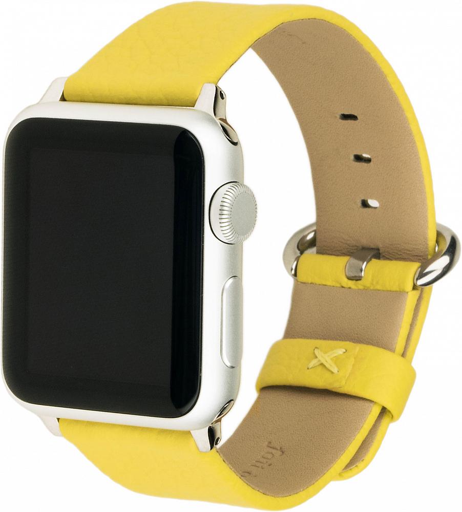 Ремешок для Apple Watch 42/44 мм, теленок, желтый