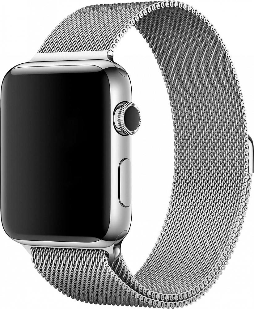 Браслет для Apple Watch 42/44 мм, сталь, серебристый