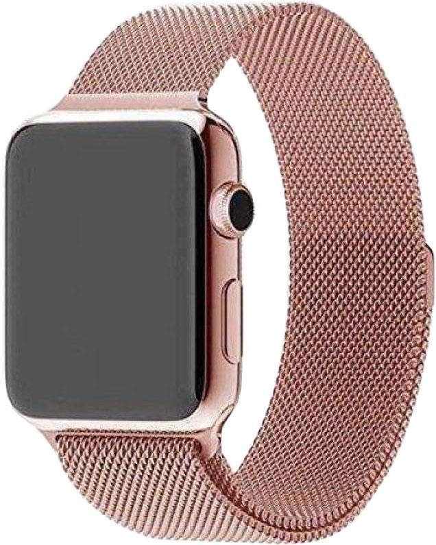 Ремешок для Apple Watch 38/40мм, сталь, розовое золото (2020)
