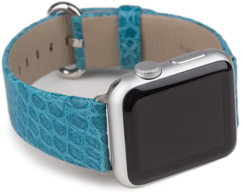 Ремешок для Apple Watch 38/40 мм, кожа аллигатор, тиффани