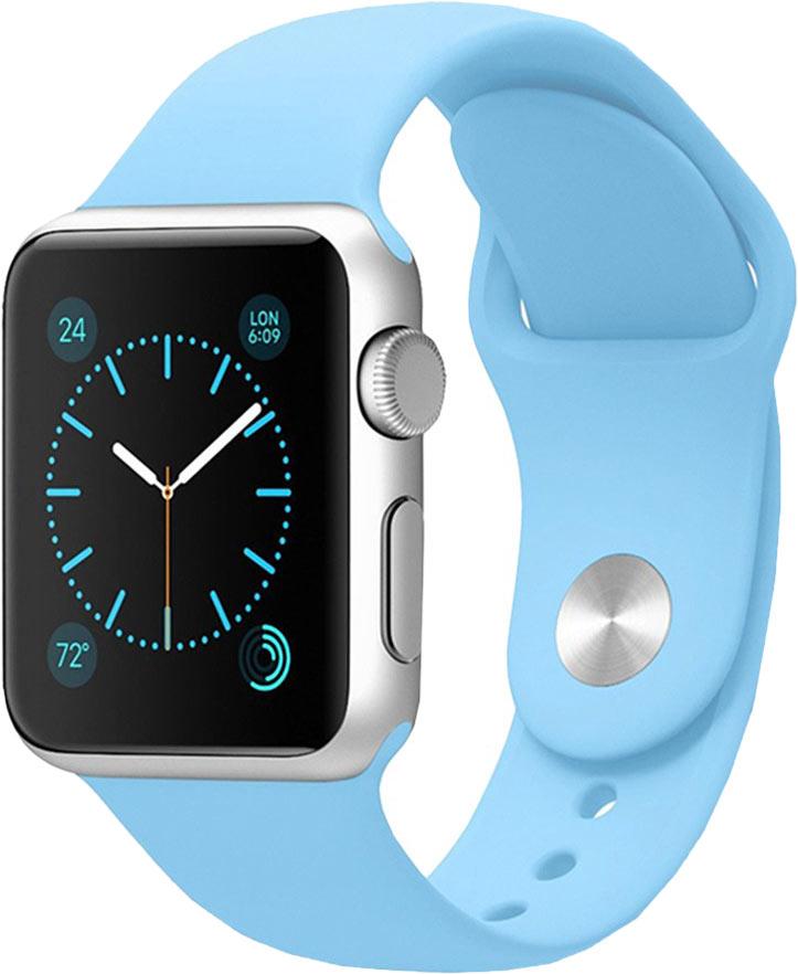 Ремешок для Apple Watch 38/40мм, силикон, небесно-голубой