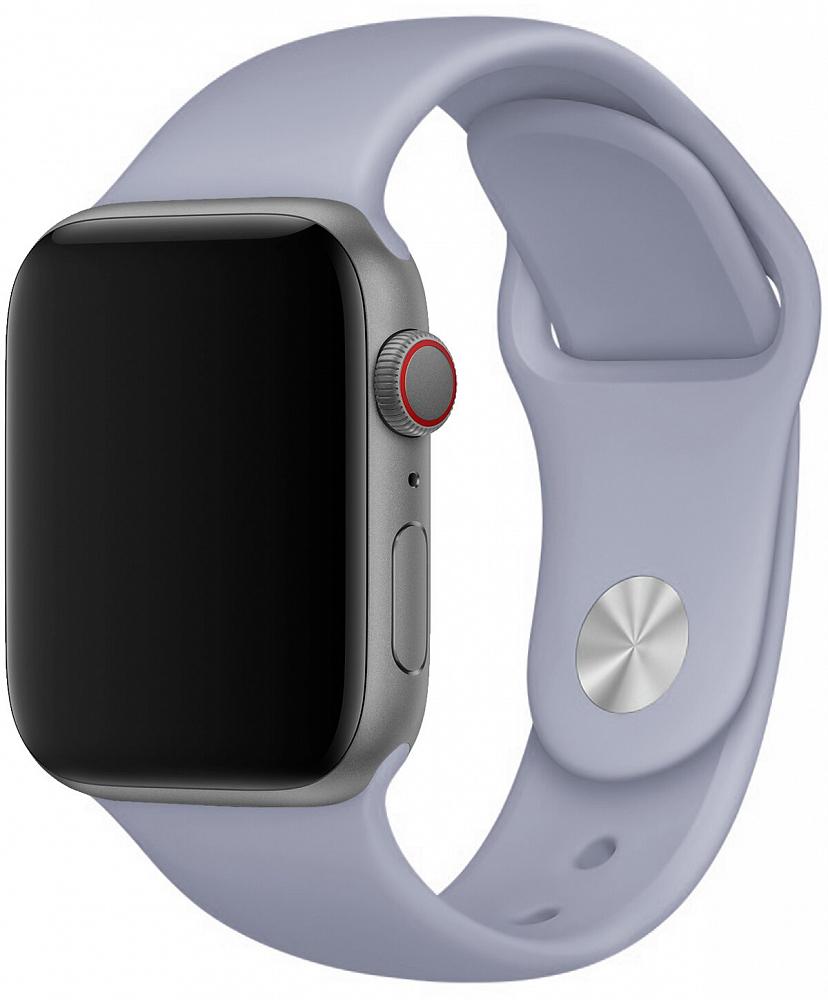 Набор силиконовых ремешков для Apple Watch 38 мм, лавандовый серый
