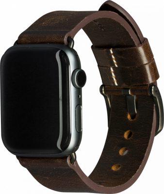 Ремешок Bornholm для Apple Watch 44 мм, кожа, темно-коричневый
