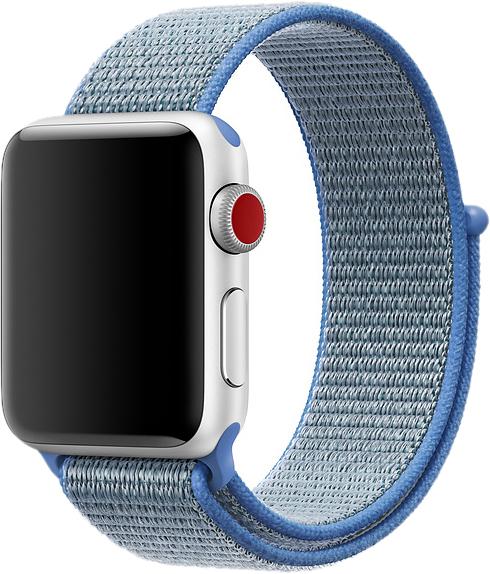 Браслет для Apple Watch 42/44 мм, нейлон, голубой