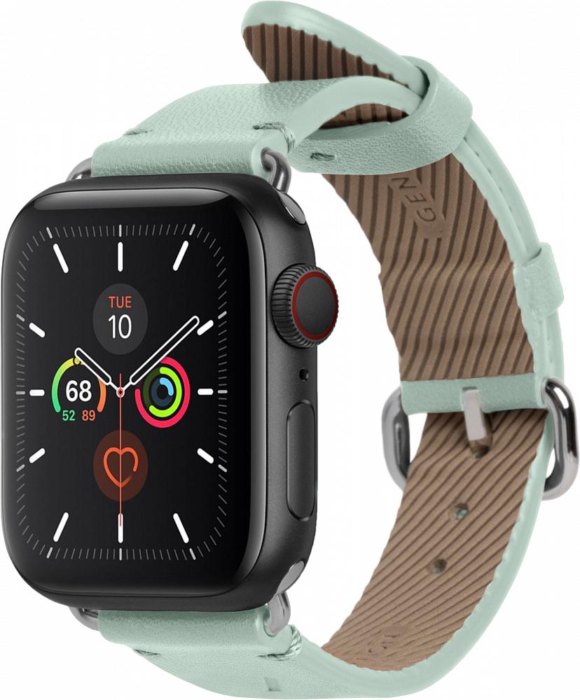 Ремешок Classic Strap для Apple Watch 38/40 мм, кожа, светло-зеленый