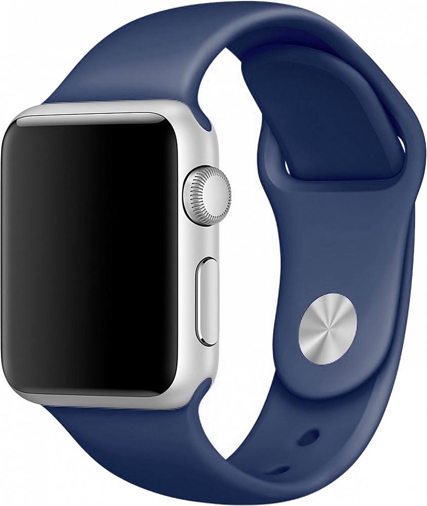 Ремешок для Apple Watch 42мм, силикон, синий