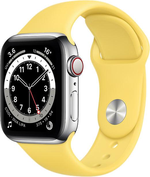 Ремешок для Apple Watch 38/40мм, силикон, имбирный