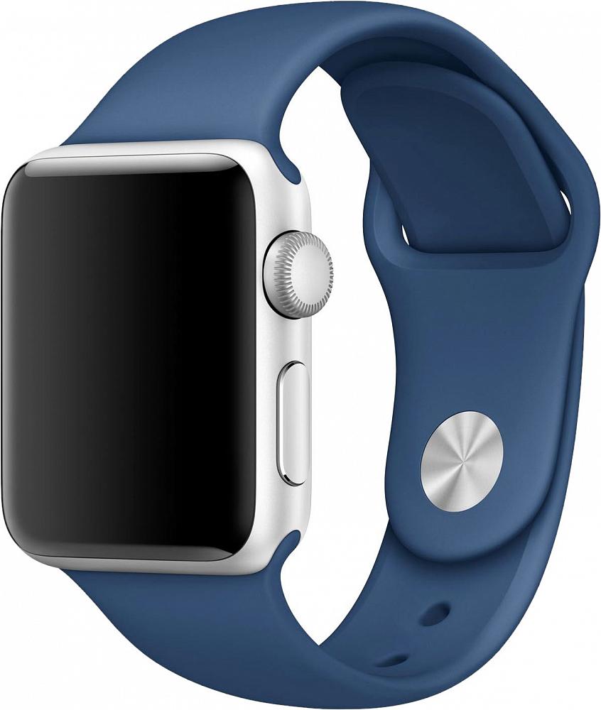 Ремешок для Apple Watch 42/44мм, силикон, синий океан