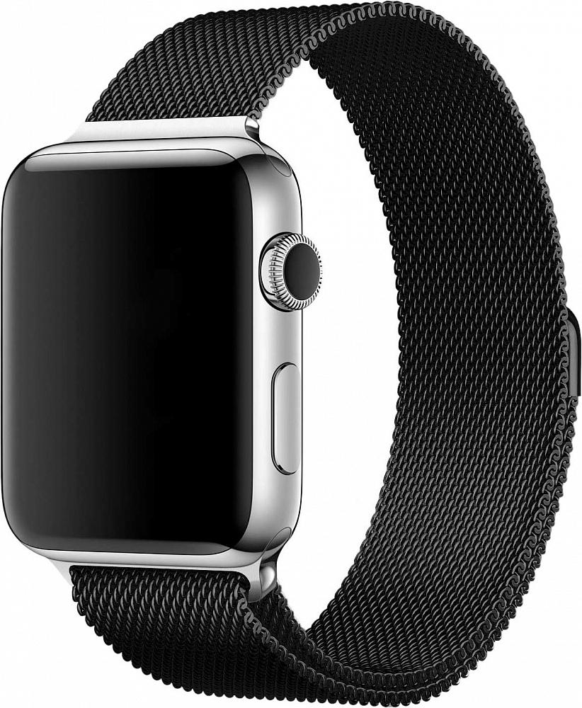Браслет для Apple Watch 42/44 мм, сталь, черный
