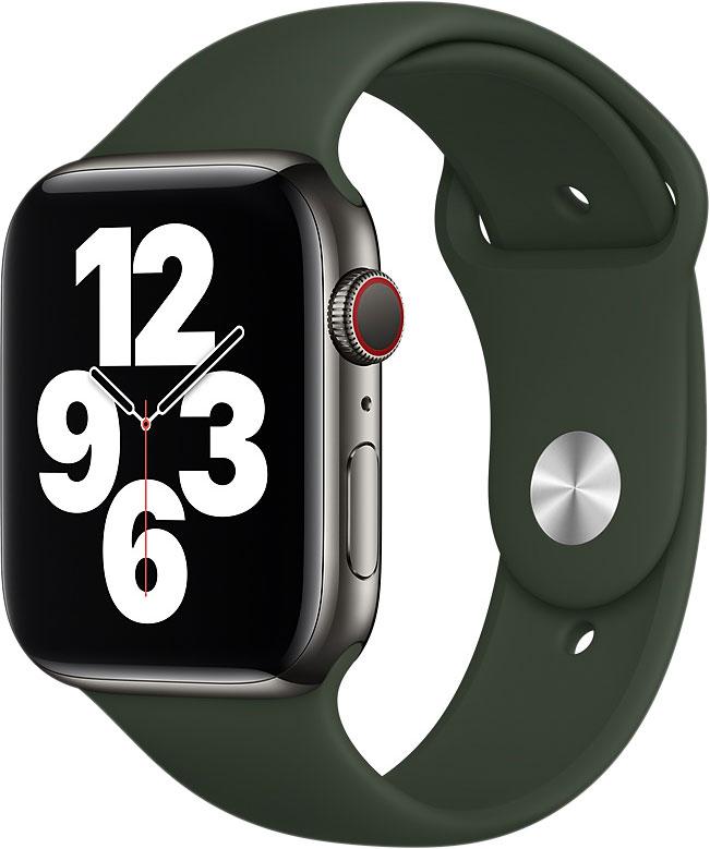 Спортивный ремешок Watch 44 мм, «кипрский зелёный»
