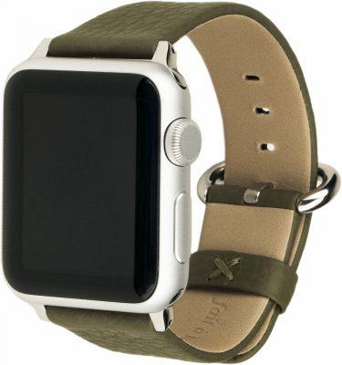Ремешок для Apple Watch 38/40 мм, теленок, зеленый