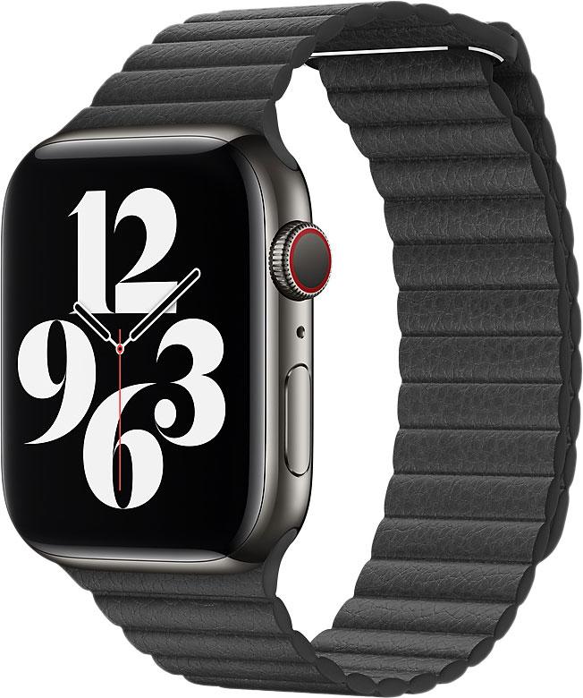 Кожаный ремешок Watch 44 мм, размер L, черный