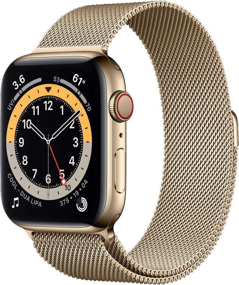 Ремешок для Apple Watch 42/44мм, сталь, золото (2020)