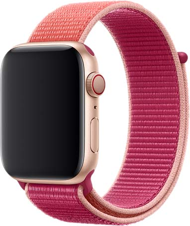 Ремешок для Apple Watch 38/40 мм, нейлон, гранатовый