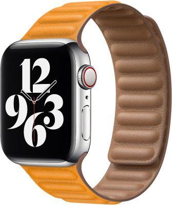 Кожаный браслет Watch 40 мм, размер M/L, «золотой апельсин»