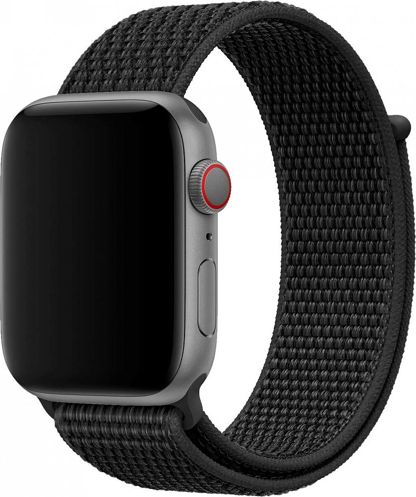Браслет для Apple Watch 42/44 мм, нейлон, черный