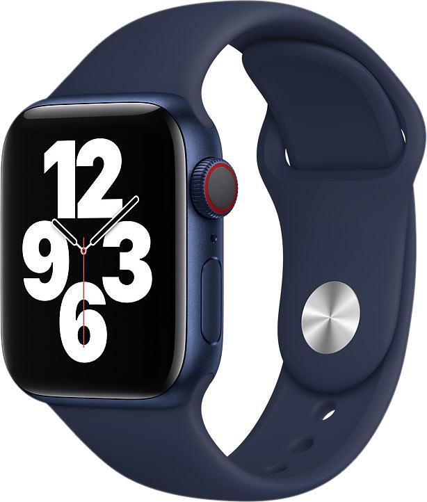 Ремешок для Apple Watch 42/44мм, силикон, темный ультрамарин