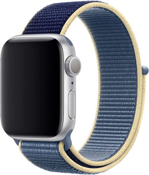 Ремешок для Apple Watch 42/44 мм, нейлон, темно-синий