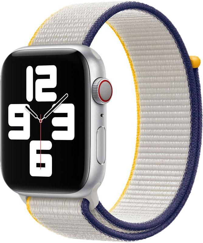Спортивный браслет для Watch 44 мм, бледно-серый
